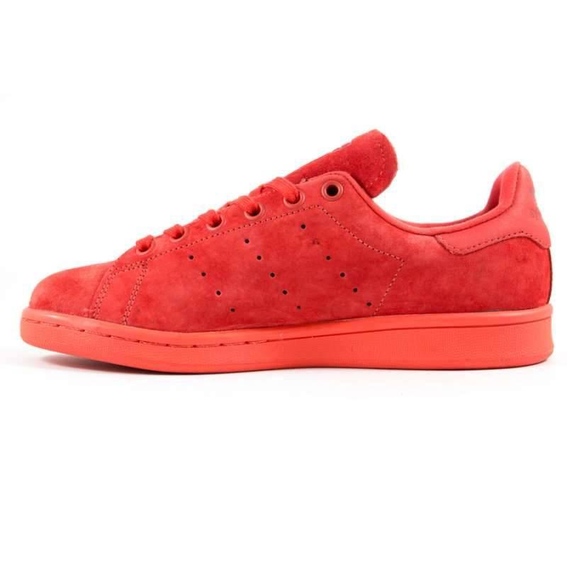 adidas stan smith rouge daim femme