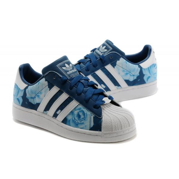 Adidas Superstar Femme Fleur Bleu Www Allow Project Eu