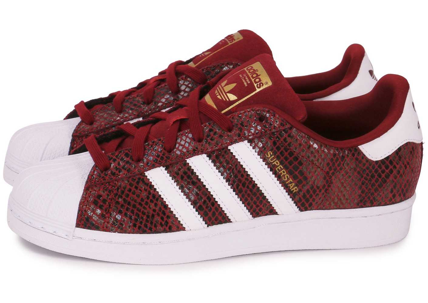 sneakers femme adidas superstar bordeaux