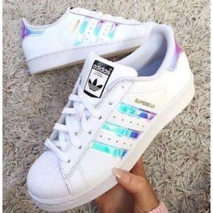 adidas superstar iridescent femme