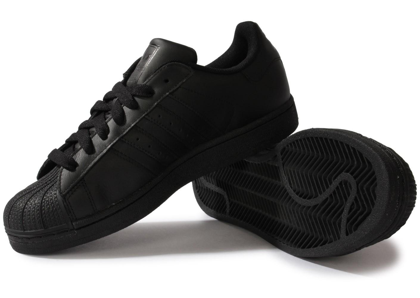 basket adidas superstar noir et or