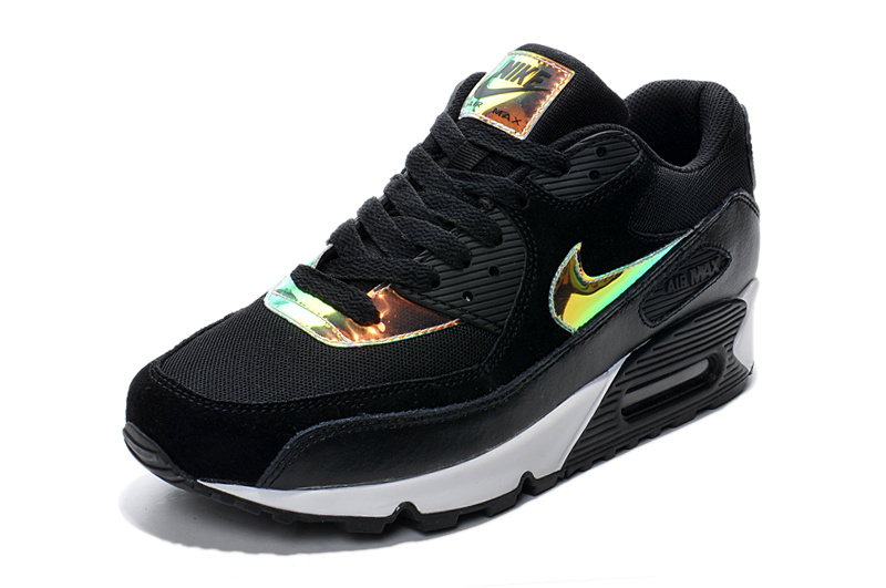 prix raisonnable Nike Air Max 90 Premium Femmes Noir, Haute