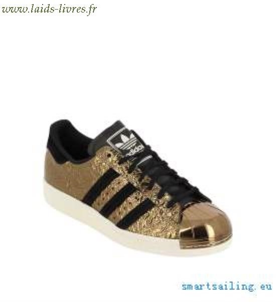 chaussure adidas dore